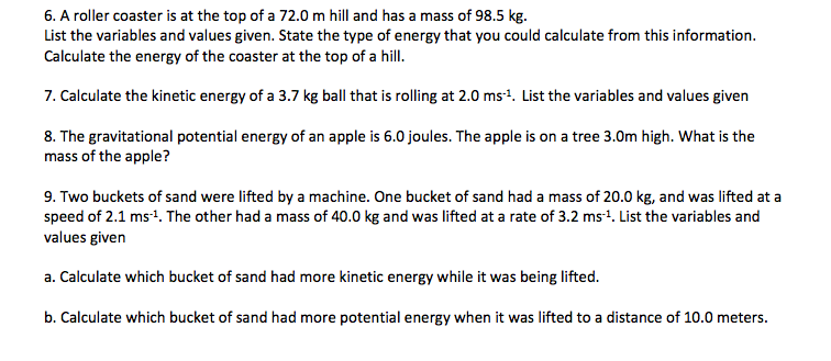 8 Physics Ek and Ep Wk3 - Mrs Morritt Science